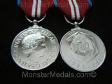 QUEENS DIAMOND JUBILEE MEDAL FULL SIZE REPLACEMENT COPY